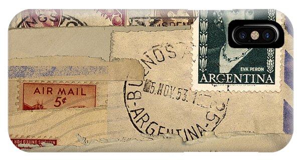 Mail Collage Eva Peron IPhone Case