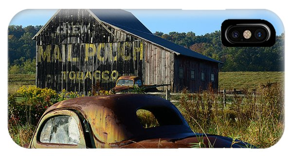 Coupe iPhone Case - Mail Pouch Barn And Old Cars by Paul Ward