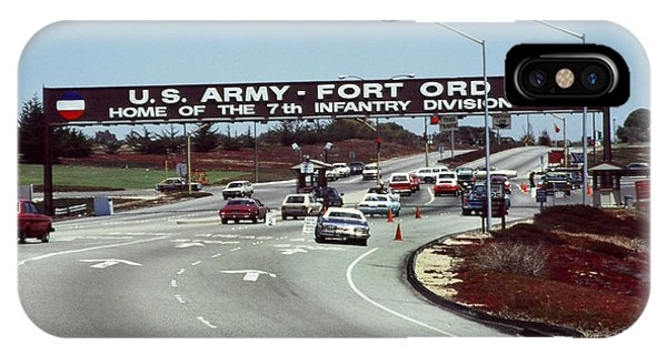 Main Gate 7th Inf. Div Fort Ord Army Base Monterey Calif. 1984 Pat Hathaway Photo IPhone Case