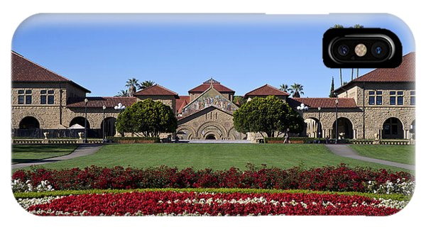No People iPhone Case - Main Quad Stanford California by Jason O Watson