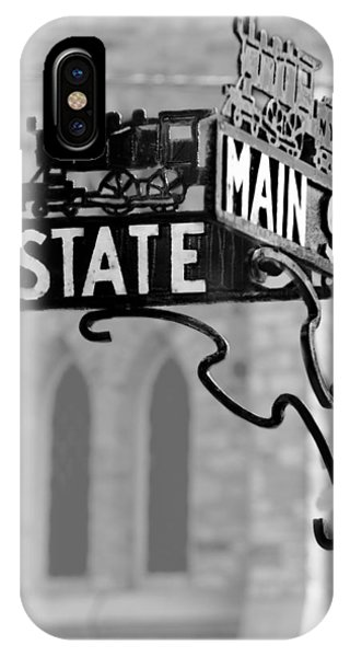 Street Sign iPhone Case - Main St IIi by Courtney Webster
