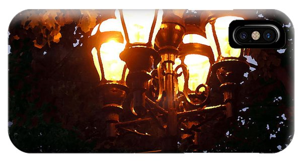Main Street Gaslights - Abstract IPhone Case