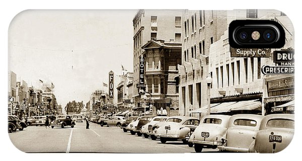 Main Street Salinas California 1941 IPhone Case