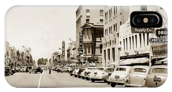 Main Street Salinas California 1941 IPhone Case