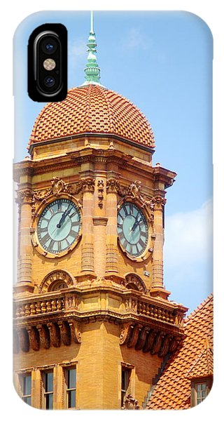 Main Street Station Clock Tower Richmond Va IPhone Case