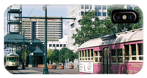 Trolley Car iPhone Case - Main Street Trolley Memphis Tn by Panoramic Images