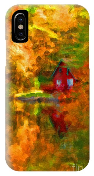 Maine Cabin In The Woods IPhone Case
