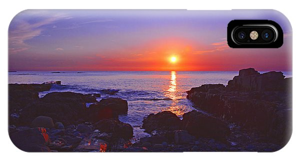 Maine Coast Sunrise IPhone Case
