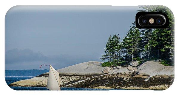Maine Dinghy Sailing IPhone Case