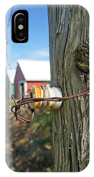 Maine Electric Fence Phone Case by Melissa C