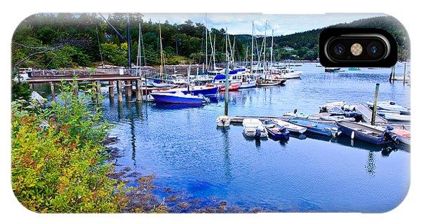 Maine Harbor 2 IPhone Case