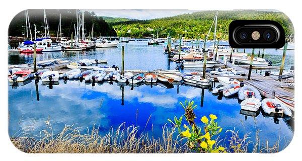Maine Harbor IPhone Case