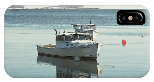 Maine Lobster Boats In Winter IPhone Case