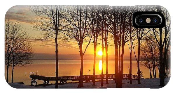 Maine Winter Sunrise Phone Case by Melissa C