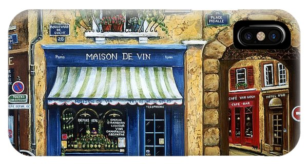 Street Sign iPhone Case - Maison De Vin by Marilyn Dunlap