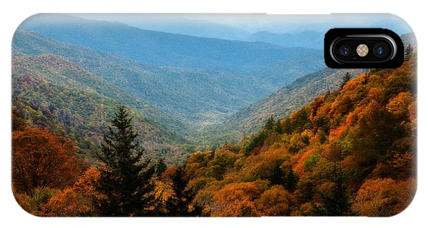 Majestic Autumn In The Smokies IPhone Case