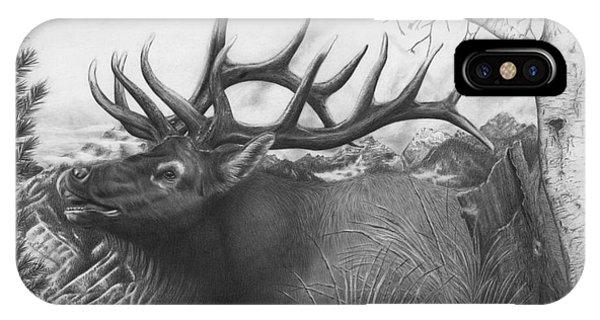 Majestic Bull Elk IPhone Case
