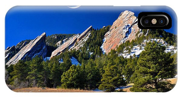 Rocky Mountain iPhone Case - Majestic Flatirons Of Boulder Colorado by John Hoffman