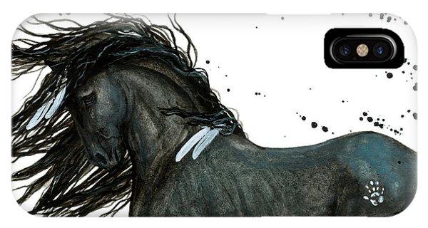 Majestic Friesian Horse 112 IPhone Case