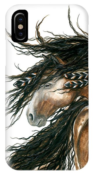 Wild Horses iPhone Case - Majestic Pinto Horse 80 by AmyLyn Bihrle