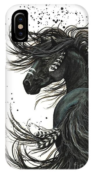 Horse iPhone X Case - Majestic Spirit Horse  by AmyLyn Bihrle