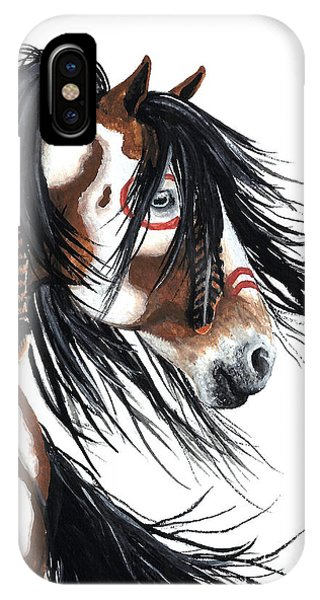 Horse iPhone X Case - Majestic Pinto Horse by AmyLyn Bihrle