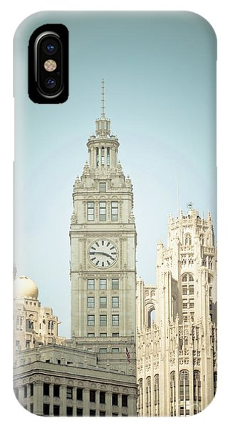Majestic Vintage Buildings Chicago IPhone Case