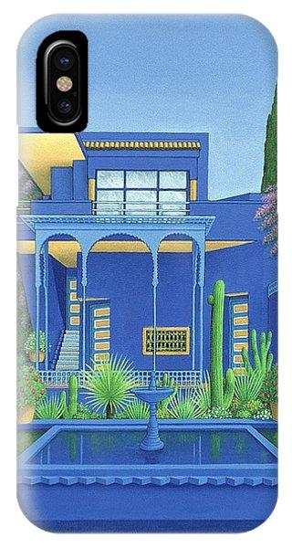 Porch iPhone Case - Majorelle Gardens, Marrakech by Larry Smart