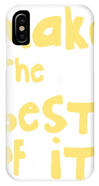 Make The Best Of It- Yellow And White IPhone Case