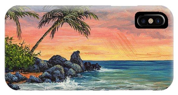 Makena Beach Sunset IPhone Case