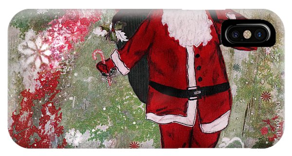Santa Claus iPhone Case - Making Spirits Bright by Janelle Nichol