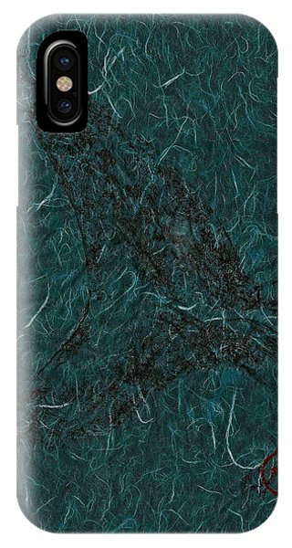 Mako Tail On Pale Blue Unryu/mulberry Paper IPhone Case