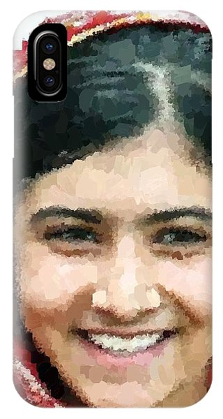 Malala Yousafzai Portrait IPhone Case