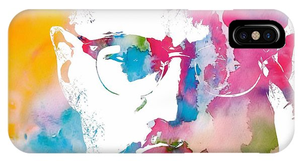 Malcolm X Watercolor IPhone Case