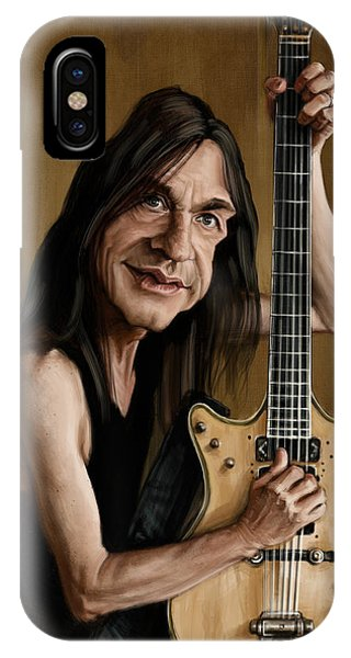 Malcolm Young IPhone Case