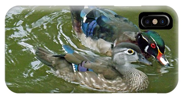 Male And Female Wood Ducks IPhone Case