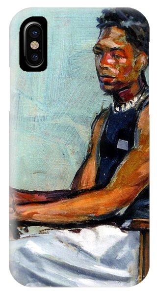 Male Figure Sitting IPhone Case