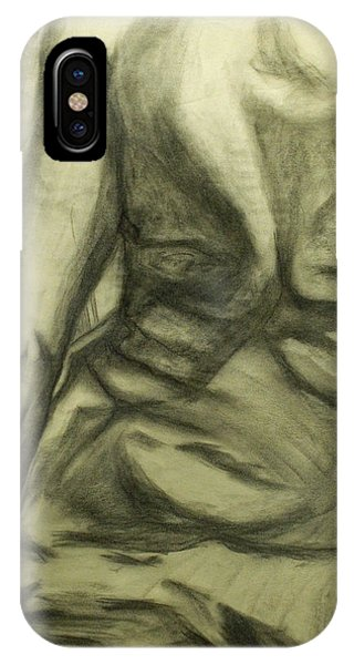 iPhone Case - Male Nude Torso Study by Donald Burroughs