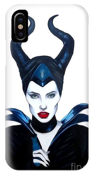 Maleficent Watercolor IPhone Case