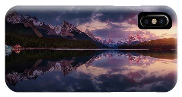 Attraction iPhone Case - Maligne Mountains by Juan Pablo De