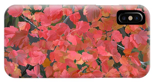 Mallow Ninebark Fall IPhone Case
