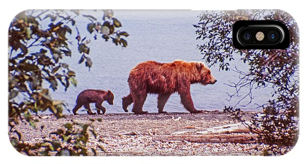 Mama And Her Cub IPhone Case