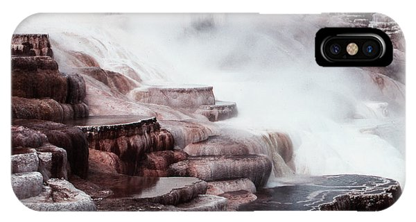 Mammoth Hot Springs In Yellowstone IPhone Case