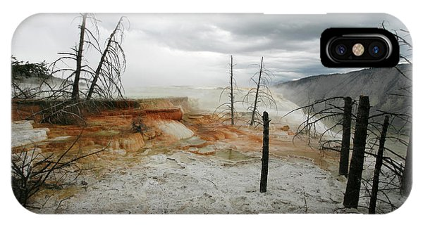 Mammoth Hot Springs iPhone Case - Mammoth Hot Springs by Peter Falkner/science Photo Library