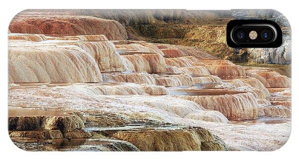 Mammoth Hot Springs iPhone Case - Mammoth Hot Springs Terracaes by Michel Hersen