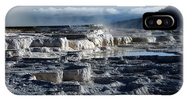 Mammoth Hot Springs iPhone Case - Mammoth Hot Springs, Yellowstone by Michel Hersen