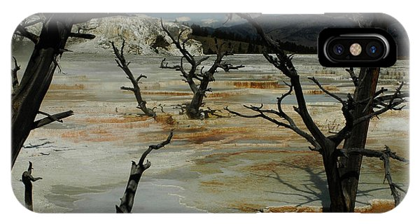 IPhone Case featuring the photograph Mammoth Springs by Michael Kirk