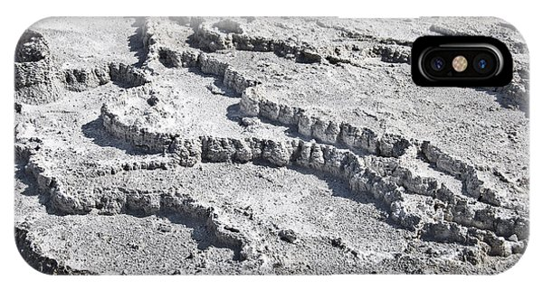 Mammoth Hot Springs iPhone Case - Mammoth Terraces Detail by Delphimages Photo Creations