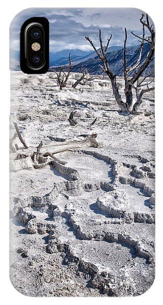 Mammoth Hot Springs iPhone Case - Mammoth Terraces Vertical by Delphimages Photo Creations