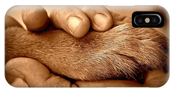 Man And Dog IPhone Case